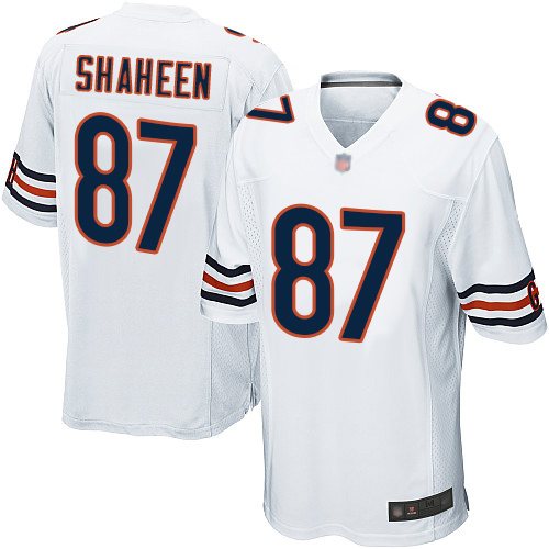 Game Men's Adam Shaheen White Road Jersey - #87 Football Chicago Bears