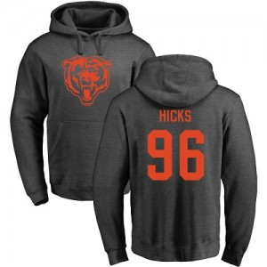 Akiem Hicks Ash One Color - #96 Football Chicago Bears Pullover Hoodie