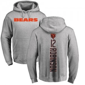 Allen Robinson Ash Backer - #12 Football Chicago Bears Pullover Hoodie