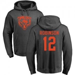 Allen Robinson Ash One Color - #12 Football Chicago Bears Pullover Hoodie