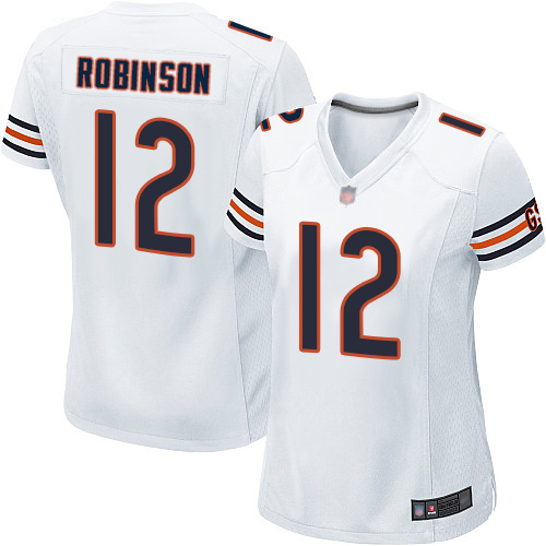 Game Women's Allen Robinson White Road Jersey - #12 Football Chicago Bears