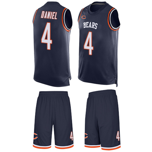 Limited Men's Chase Daniel Navy Blue Jersey - #4 Football Chicago Bears Tank Top Suit