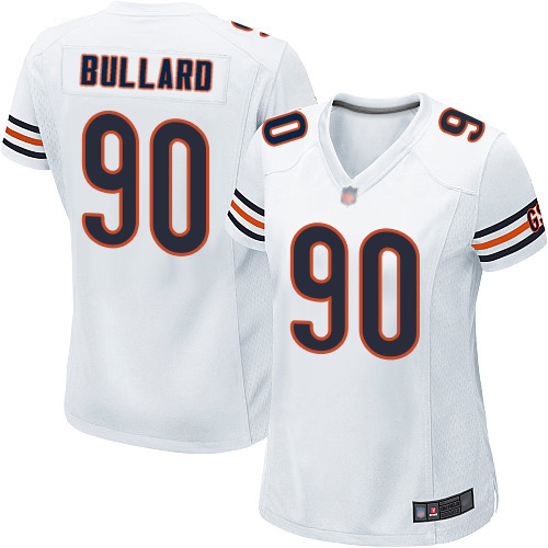 Game Women's Jonathan Bullard White Road Jersey - #90 Football Chicago Bears