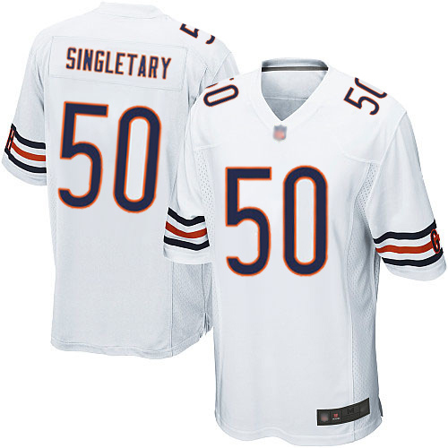 Game Men's Mike Singletary White Road Jersey - #50 Football Chicago Bears