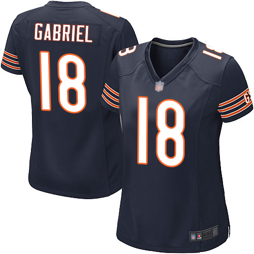 Game Women's Taylor Gabriel Navy Blue Home Jersey - #18 Football Chicago Bears