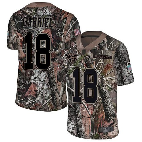 Limited Men's Taylor Gabriel Camo Jersey - #18 Football Chicago Bears Rush Realtree